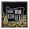 Torched Products Shadow Box Gray Oregon Drink Wine From Here Wine Cork Shadow Box (795783397493)