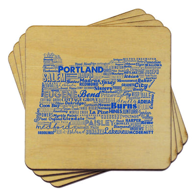 Torched Products Coasters Oregon State Typography Coaster (787839615093)