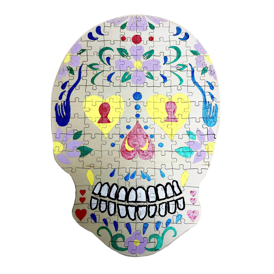 Torched Products Paint By Numbers Wooden Sugar Skull Jigsaw Puzzle