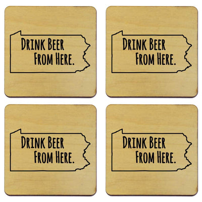Torched Products Coasters Pennsylvania Drink Beer From Here Coasters