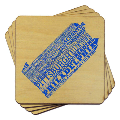Torched Products Coasters Pennsylvania Typography Coaster (787840106613)