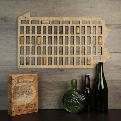 Torched Products Wine Cork Map Pennsylvania Wine Cork Map (778987470965)