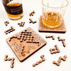 Torched Products Coasters Rapid Fire Puzzle Coasters