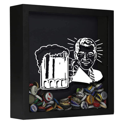 Torched Products Shadow Box Black Retro Craft Beer Cap Shadow Box