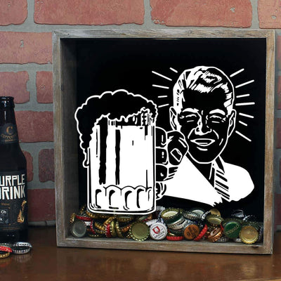 Torched Products Shadow Box Retro Craft Beer Cap Shadow Box (778756227189)