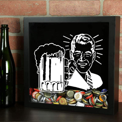 Torched Products Shadow Box Retro Craft Beer Cap Shadow Box
