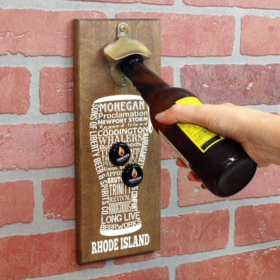 Torched Products Bottle Opener Default Title Rhode Island Craft Beer Typography Cap Catching Magnetic Bottle Opener (789187559541)