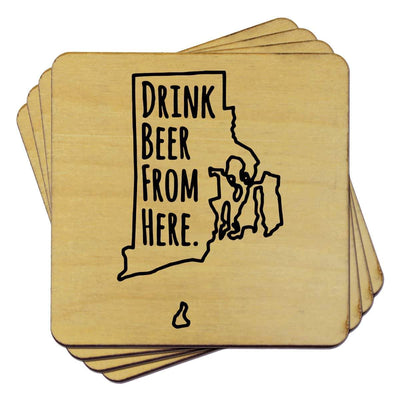 Torched Products Coasters Rhode Island Drink Beer From Here Coasters
