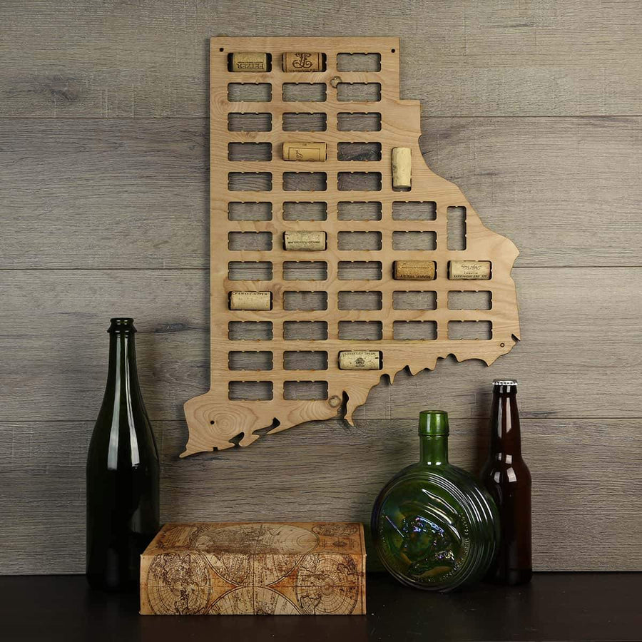 Torched Products Wine Cork Map Rhode Island Wine Cork Map (778987995253)