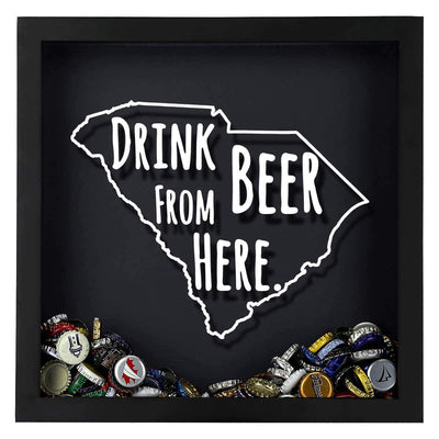 Torched Products Shadow Box South Carolina Drink Beer From Here Beer Cap Shadow Box