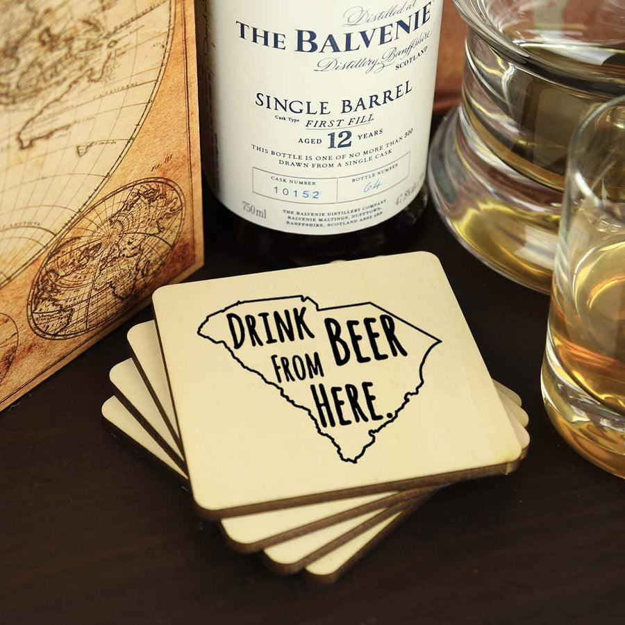 Torched Products Coasters South Carolina Drink Beer From Here Coasters (781457162357)