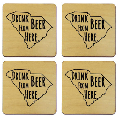 Torched Products Coasters South Carolina Drink Beer From Here Coasters