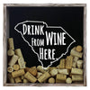 Torched Products Shadow Box Gray South Carolina Drink Wine From Here Wine Cork Shadow Box (795785265269)