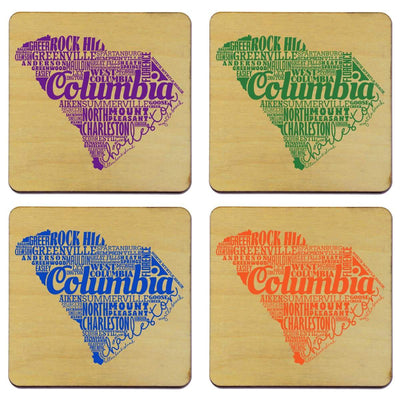Torched Products Coasters South Carolina Typography Coaster (787841056885)