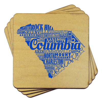 Torched Products Coasters South Carolina Typography Coaster