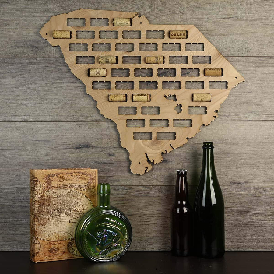 Torched Products Wine Cork Map South Carolina Wine Cork Map (778988683381)