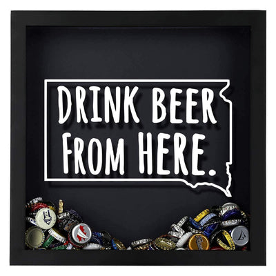 Torched Products Shadow Box South Dakota Drink Beer From Here Beer Cap Shadow Box