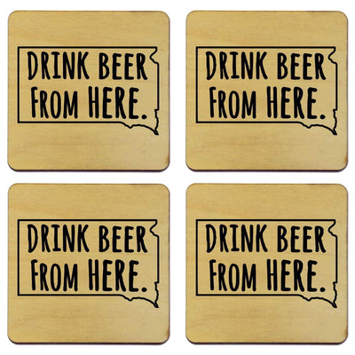 Torched Products Coasters South Dakota Drink Beer From Here Coasters (781457358965)