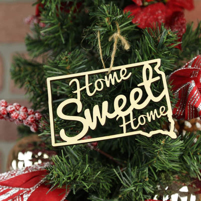 Torched Products Ornaments South Dakota Home Sweet Home Ornaments