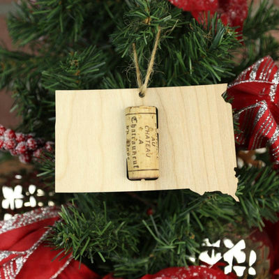 Torched Products Wine Cork Holder South Dakota Wine Cork Holder Ornaments (781205536885)