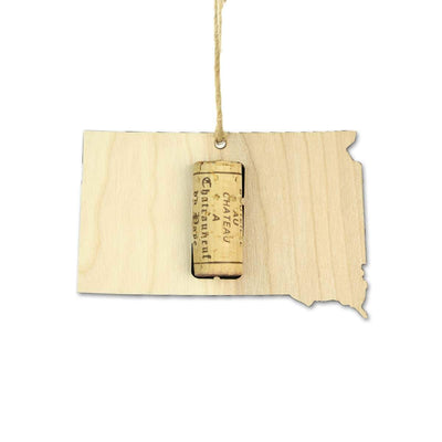 Torched Products Wine Cork Holder South Dakota Wine Cork Holder Ornaments