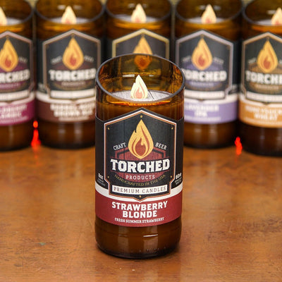 Torched Products Beer Candles Strawberry Blonde Beer Candle
