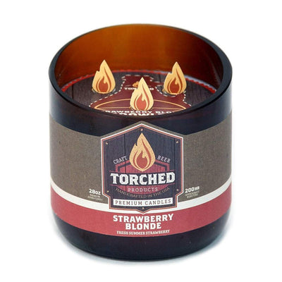 Torched Products Beer Candles Growler 28 oz Strawberry Blonde Beer Candle