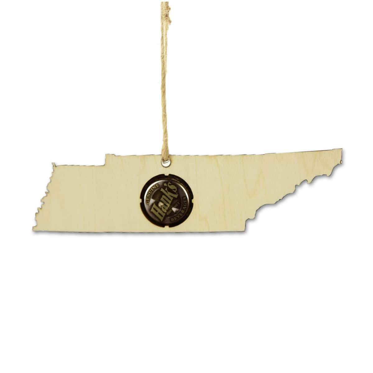 Torched Products Beer Cap Maps Tennessee Beer Cap Map Ornaments (781575225461)