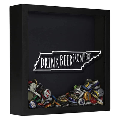 Torched Products Shadow Box Black Tennessee Drink Beer From Here Beer Cap Shadow Box