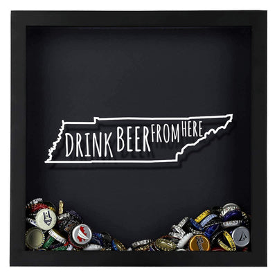 Torched Products Shadow Box Tennessee Drink Beer From Here Beer Cap Shadow Box
