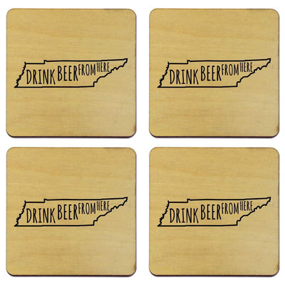 Torched Products Coasters Tennessee Drink Beer From Here Coasters
