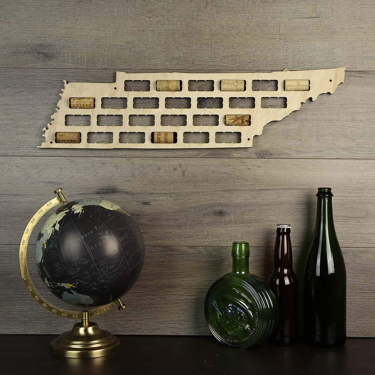 Torched Products Wine Cork Map Tennessee Wine Cork Map (778989830261)