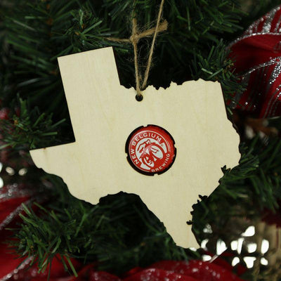 Torched Products Beer Cap Maps Texas Beer Cap Map Ornaments (781575356533)