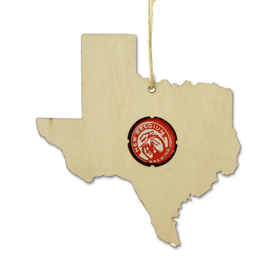 Torched Products Ornaments Texas Beer Cap Map Ornaments