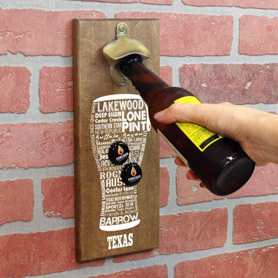 Torched Products Bottle Opener Default Title Texas Craft Beer Typography Cap Catching Magnetic Bottle Opener (789188673653)