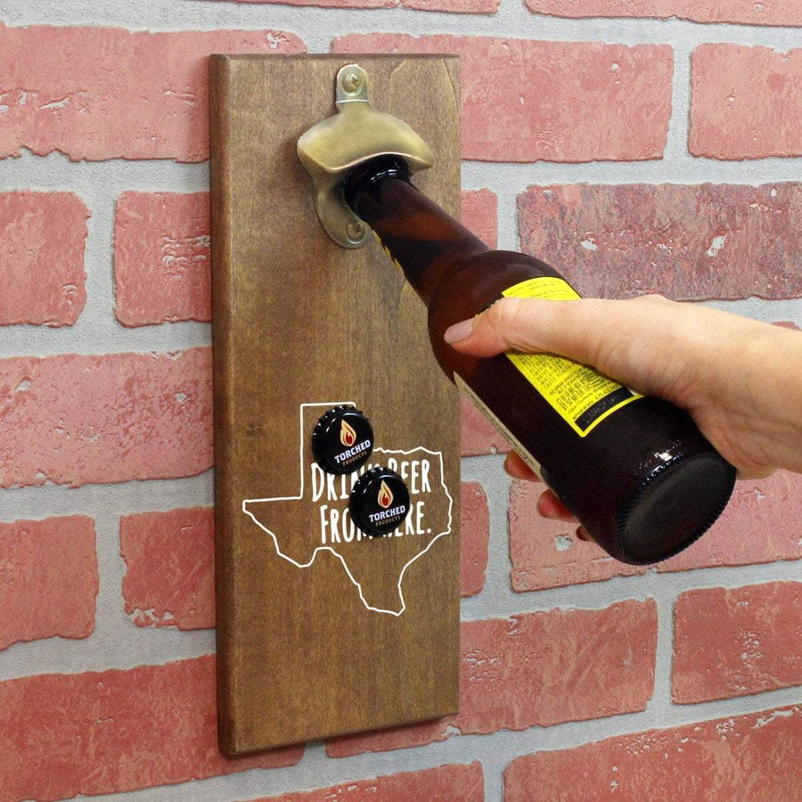 Torched Products Bottle Opener Default Title Texas Drink Beer From Here Cap Catching Magnetic Bottle Opener (781501300853)