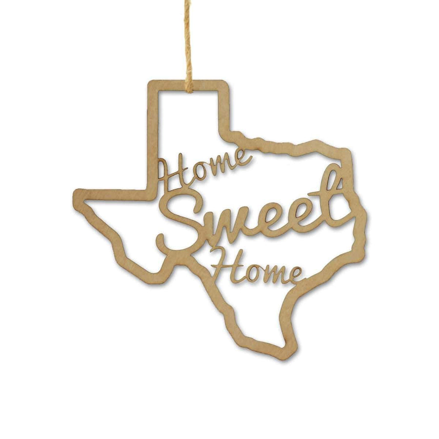 Torched Products Ornaments Texas Home Sweet Home Ornaments