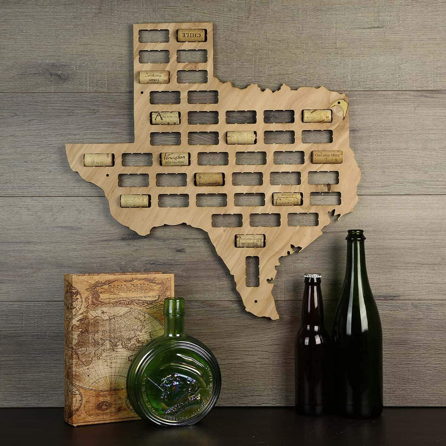 Torched Products Wine Cork Map Texas Wine Cork Map