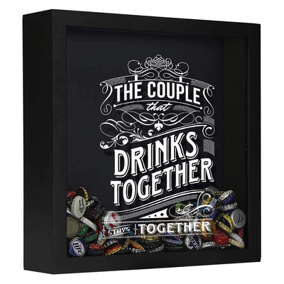 Torched Products Shadow Box Black The Couple That Drinks Together Stays Together Shadow Box