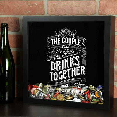 Torched Products Shadow Box The Couple That Drinks Together Stays Together Shadow Box