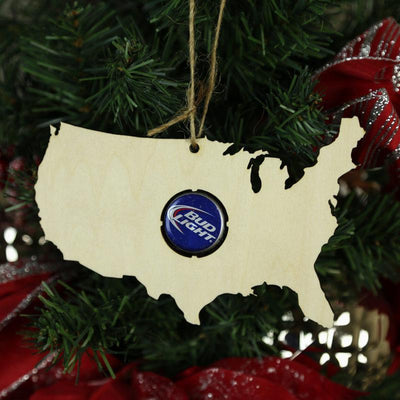 Torched Products Beer Cap Maps USA Beer Cap Map Ornaments (781575848053)