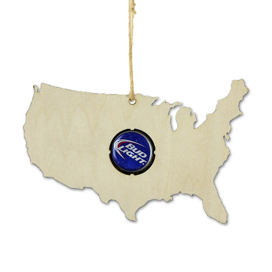 Torched Products Beer Cap Maps USA Beer Cap Map Ornaments