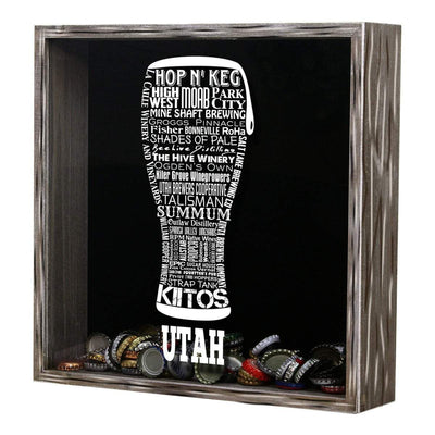 Torched Products Shadow Box Utah Beer Typography Shadow Box (779394351221)
