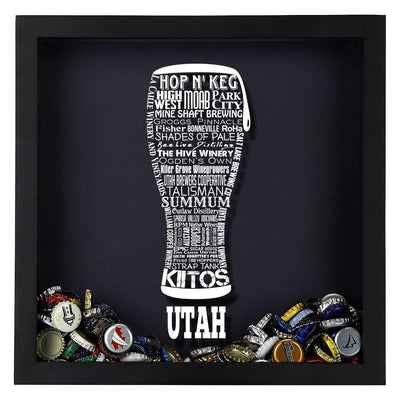 Torched Products Shadow Box Utah Beer Typography Shadow Box