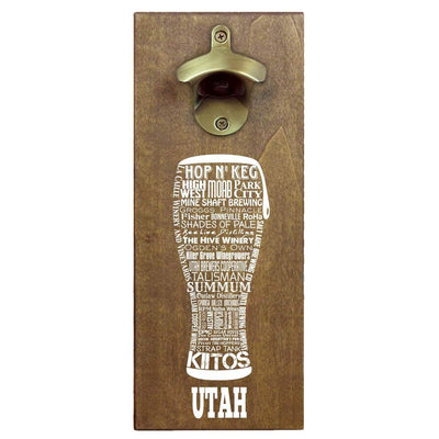 Torched Products Bottle Opener Default Title Utah Craft Beer Typography Cap Catching Magnetic Bottle Opener (789188837493)