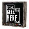 Torched Products Shadow Box Utah Drink Beer From Here Beer Cap Shadow Box (781184991349)
