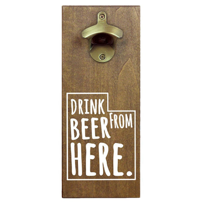 Torched Products Bottle Opener Default Title Utah Drink Beer From Here Cap Catching Magnetic Bottle Opener (781501759605)