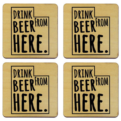 Torched Products Coasters Utah Drink Beer From Here Coasters