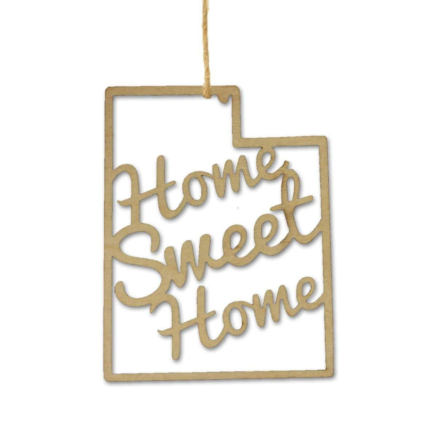 Torched Products Ornaments Utah Home Sweet Home Ornaments