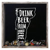 Torched Products Shadow Box Gray Vermont Drink Beer From Here Beer Cap Shadow Box